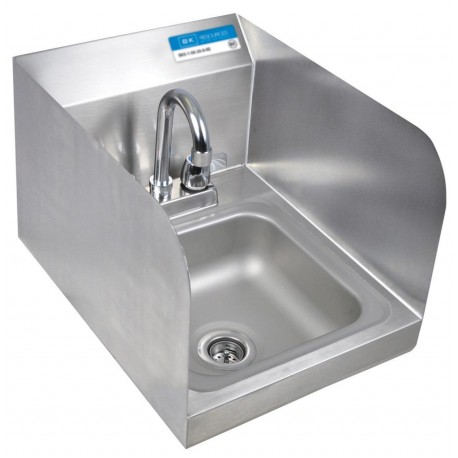 BK DM SPACE SAVER HAND SINK 2 HOLE W SS & FAUCET