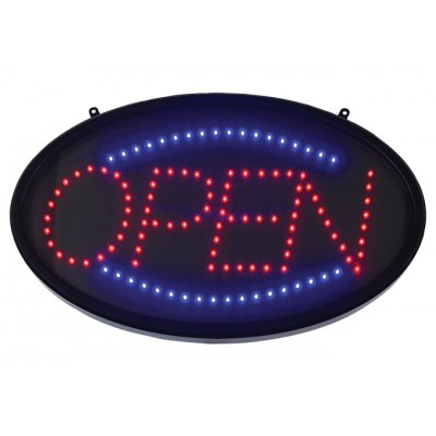 """""""Open"""" LED Sign, Oval, Dust..."""