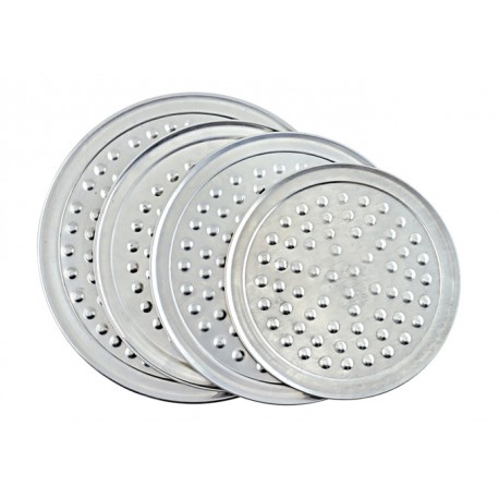 8''Aluminum Wide Rim Pizza Tray with Nibs