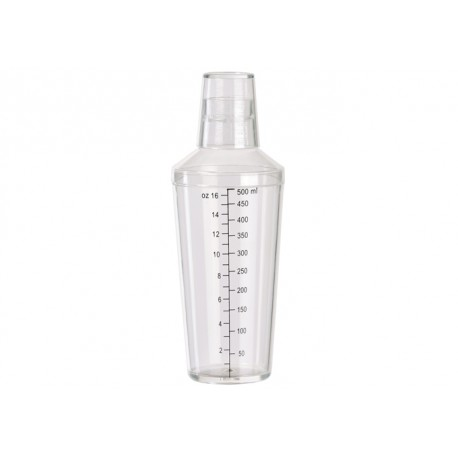 16 oz Clear Bar Shaker