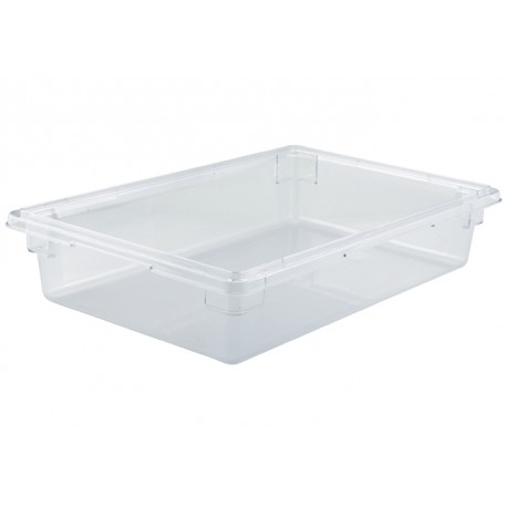 6'' Depth Full-Size Food Storage Box, Clear Polycarbonate