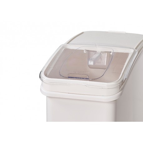 27 Gallon Ingredient Bin with Brake Casters and Scoop