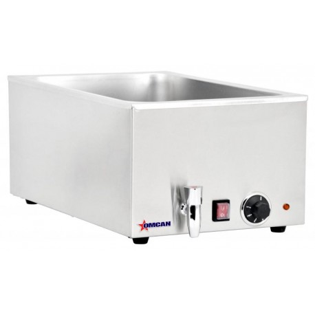 OMCAN SINGLE CHAMBER FOOD WARMER WITH 2 HALF-SIZE PANS OR 1 FULL-SIZE PAN CAPACITY