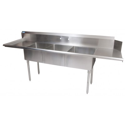 3 COMP SOILED LEFT DISH TABLE